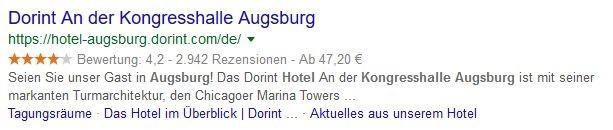 Suchergebnis Augsburg strukturierte Daten mit Bewertung